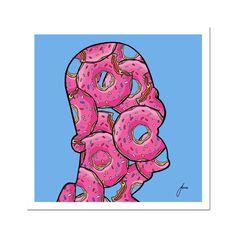 Homer Donuts Fine Art Print - 12x12