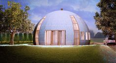 Gorgeous Russian dome home of the future withstands massive snow loads