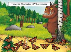 Gruffalo Register - Make self-registration more interesting with this colourful Gruffalo display.