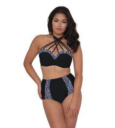 Toon details van Curvy Kate Swim Galaxy Bandeau Bikini Beha CS3741 Multi Print 60-85 Cup D t/m J