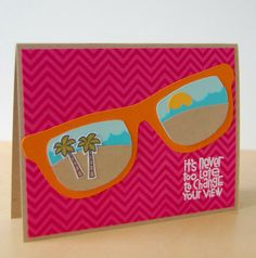 our charmed life: A Tropical View Card Paper Smooches