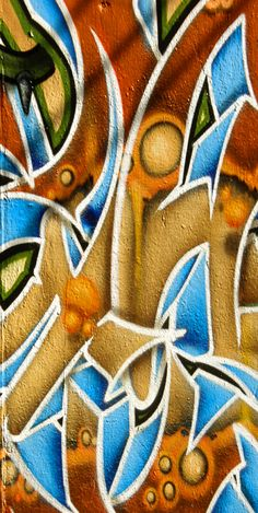 Graffiti Abstract Graphic Art on Wrapped Canvas