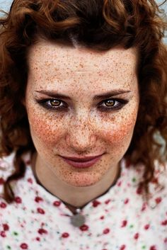 Her freckles are amazing!