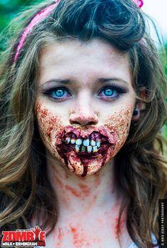 Special FX materials and make-ups donated by Mouldlif Horror Makeup, Zombie Makeup, Scary Makeup, Sfx Makeup, Costume Makeup, Makeup Art, Amazing Halloween Makeup, Halloween Looks, Halloween Face Makeup