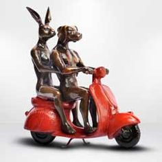 They rode the red vespa and romance followed by Gillie and Marc