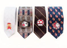 Super Mario Bros Nintendo Neckties by Muluk   NES Boo Mushroom Shyguy