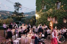 Canopy lighting villa reception
