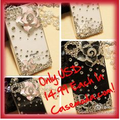Special Sale! Only USD 14.99 Each For Bling Bling Camellia iPhone Cases, created by casemoda on Polyvore