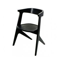 Slab Dining Chair in Black by Tom Dixon