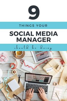 9 Things Your Social Media Manager Should Do - Social Media Strategy, Social Media Management, and S Facebook Marketing, Online Marketing, Digital Marketing, Social Media Marketing Manager, Mobile Marketing, Inbound Marketing, Marketing Ideas, Social Networks, Content Marketing