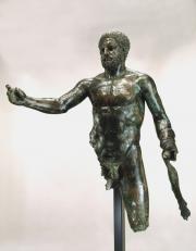 Statue of Hercules (c) mairie de Bordeaux Musee D'Aquitaine Aquitaine, Bronze Sculpture, Sculpture Art, Hercules Statue, Monuments, Statues, Chef D Oeuvre, Archaeology, Les Oeuvres