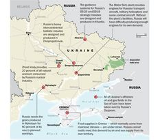 Since the breakup of the Soviet Union, Russia has relied on production facilities in south and east Ukraine for critical military supplies.