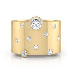 Anillo de diamantes oro amarillo y 18k