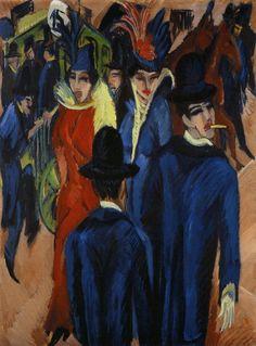 """""""Calle, Berlin"""" (1913) de Kirchner"""