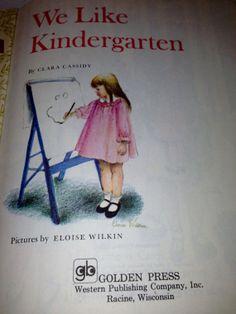 We Like Kindergarten Golden Book 1978 by manyhappymemories