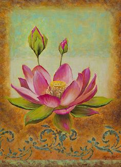 King Lotus    A type of water lily, which rises from muddy waters to blossom, making it a symbol of purity and resurrection.    From my original oil