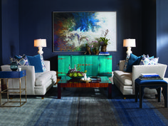 Always incredible,the Oscar de la Renta Chinese Credenza in our Sapphire finish.