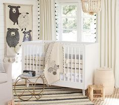 Organic Sleepy Sheep Nursery Bedding Set | Pottery Barn Kids