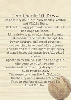 Happy Thanksgiving!! Repin if you are thankful for baseball.