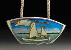 Kristin Anderson  The Sharpie Ketch for Jenny Raney | Sterling Silver and Vitreous Enamel