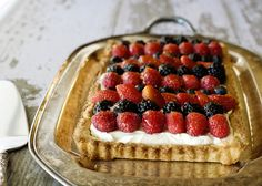 Wait for summer - berry and marscapone tart.