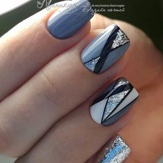 Nageldesign & Nailart Amazing nail designs and new creative ideas # amazing # ideas # creative # nai Creative Nail Designs, Gel Nail Designs, Creative Nails, Striped Nail Designs, Acrylic Nails, Gel Nails, Nail Polish, Pinterest Nail Ideas, Chevron Nail Art