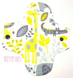"""7"""" Pantyliner, Light Pad, Moderate Absorbency 100% Cotton With PUL & Terry Cloth Core, Reusable Menstrual Cloth, Cloth Pads by RosyPads on Etsy"""