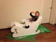 Мастер-класс по изготовлению декорации «Зимние сани своими руками» - Для воспитателей детских садов - Маам.ру
