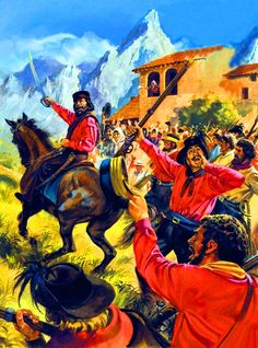 Garibaldi leading the redshirts during the Unification of Italy