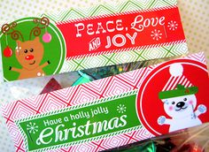 More free holiday bag and candy bar wrappers/toppers!