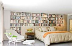 6 ways to create a home library + reading nook no matter what size home. Your hallway, staircase, doors or windows can all create a home library. Stylish Bedroom, Cozy Bedroom, Girls Bedroom, Bedroom Decor, Master Bedroom, Dream Bedroom, Bedroom Ideas, Bedroom Inspiration, Bedroom Wall