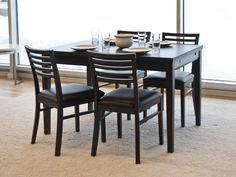 Elegant RONJA Bord 120 180 Svart Ek I Gruppen Inomhus / Bord / Matbord Hos  Furniturebox · SwedenDining Table