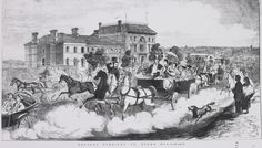 | Frederick Grosse, Holiday time – the St Kilda Road, 1867, wood engraving |