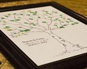 CANVAS Wedding Tree Fingerprint Tree Thumbprint by MadeByMalachi. $60.00, via Etsy.