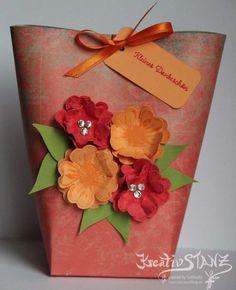 Kreativstanz – Stampin' Up!  Box in a Bag mit Blumen #box #birthday http://kreativstanz.bastelblogs.de/