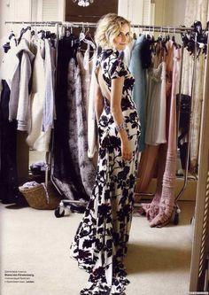 Diane Kruger in a DVF dress.