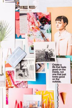 A colorful modern style guide / mood board