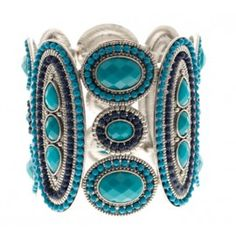 Bracelete Prata com Pedras