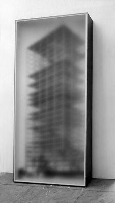 Tower block light boxes - Alex hartley