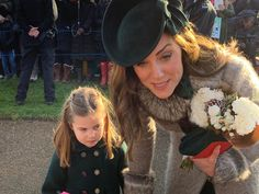 """""""Princess Charlotte and Duchess of Cambridge meet crowds at Sandringham. Can't take credit for the photo though! Prince George Alexander Louis, Prince William And Catherine, William Kate, Prince Georges, Prince And Princess, Princess Kate, Prince Harry, Duke And Duchess, Duchess Of Cambridge"""