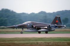 RNLAF NF-5A with AIM-9 Sidewinder on the wingtip, a fairly rare sight for a Dutch Freedom Fighter!