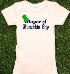Wizard of Oz Onesie Mayor of Munchkin City Funny Baby by uVinyl, $13.99
