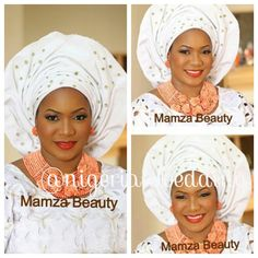 """Nigerian Wedding Trends: Check Out Our 20 Refreshing & Radiant """"All White"""" Aso-oke For Yoruba Traditional Wedding 