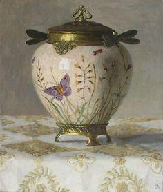 Olga Antonova - Eisenhauer Gallery of Edgartown, MA Vases, Z Arts, Perfume, Objet D'art, Contemporary Paintings, Trinket Boxes, Still Life, Art Decor, Art Nouveau