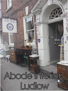Abode Interiors in the historic town of Ludlow, Shropshire is 3 floors of indulgence, set in a Georgian townhouse, specialising in boho to classic country painted furniture,antique French lighting, local artist wall art and country style giftware.