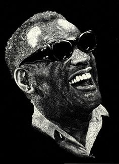 Amazing Scratchboard | RAY CHARLES 8 by 10 Scratchboard Art by OnceTattered on Etsy