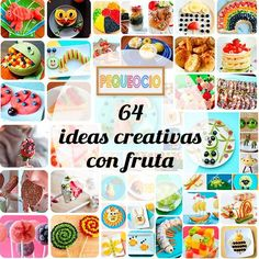 Recetas creativas con fruta para los peques. Sorprende a los tuyos con platos especiales, no te pierdas 64 recetas para niños con fruta.