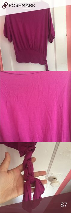 Purple the limited shirt Purple shirt from the limited. Has a braided side. The Limited Tops Blouses