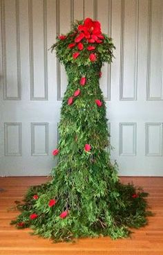 christmas tree gown - Google Search