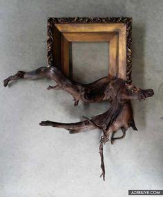 Восьмая расплавленная рамка для картины из дерева